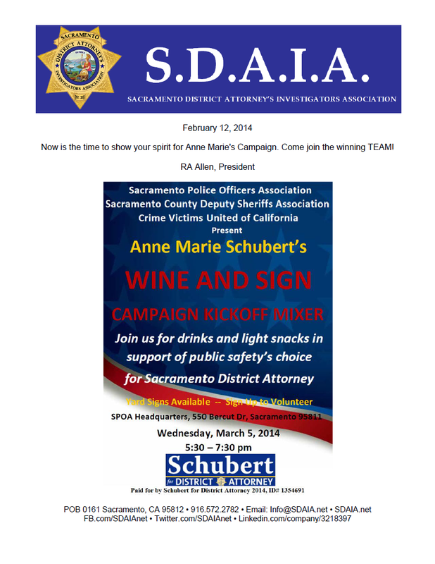 Schubert for DA Wine & Sign